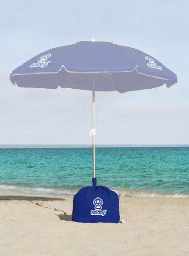 SOLBOY - Der Sonnenschirmhalter, innovativer Schirmständer für den Strandschirm (SONDEREDITION BLAU). Hochwertige...