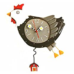 Allen Design Studios Flew The Coop Resin Hen or Chicken Kitchen Wall Clock