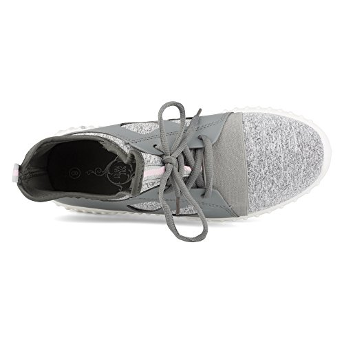 Twisted Womens Electra Lightweight Athletic Fashion Sneaker Grey ogauJx4bow