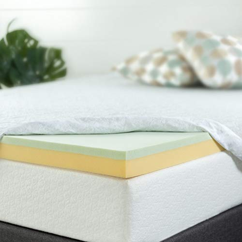 Zinus 4 Inch Green Tea Memory Foam Mattress Topper, Full (Green Memory Foam Toppers)