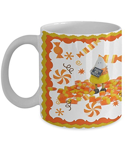 Halloween Coffee Mug - Super Cute - I Love Candy Corn - Great Gift for Women and (How Many Days Before Halloween 2017)