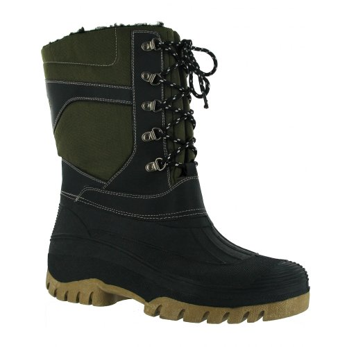 FREEZE TEXTILE/WEATHER WATERPROOF WELLINGTON / Womens Boots / Mens Boots Green KyDohxoH