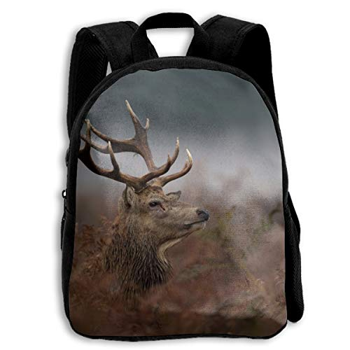 - Gol Saly Wild Stag Deer Boys & Girls Lightweight Casual School Backpacks Shoulder Bag Black