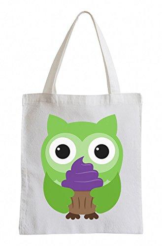 Raxxpurl Cupcake Owl Fun sacchetto di iuta