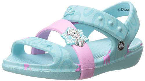 Crocs Keeley Frozen Fever K Sandal (Toddler/Little Kid), Ice Blue, 8 M US Toddler by Crocs