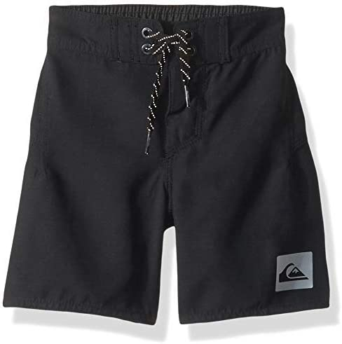 Little Highline Kaimana Boy's 14 Boardshort Swim Trunk Black 3 [並行輸入品]