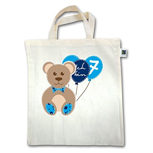 Birthday Child - I Am 7 Balloons Young Bear - Unisize - Natural - Xt500 - Manico Corto In Juta