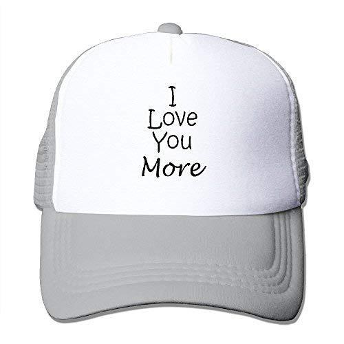Unisex-Adult I Love You More Flat Billed Sun Cap Hats Black -