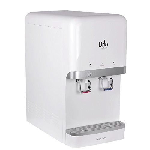 """Brio and Magic Mountain Water Products Countertop Bottleless Water Dispenser New only 17"""" Tall, Mighty Mini Height. Dispenser Only, The All New Brio CLWCM-3000U, White (Mini) (w/o Filtration Package)"""