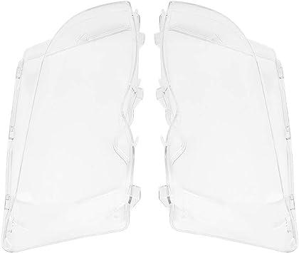 X AUTOHAUX 2pcs Left Right Headlight Headlamp Lens Plastic Cover for BMW E46 2D 99-03 2 Door