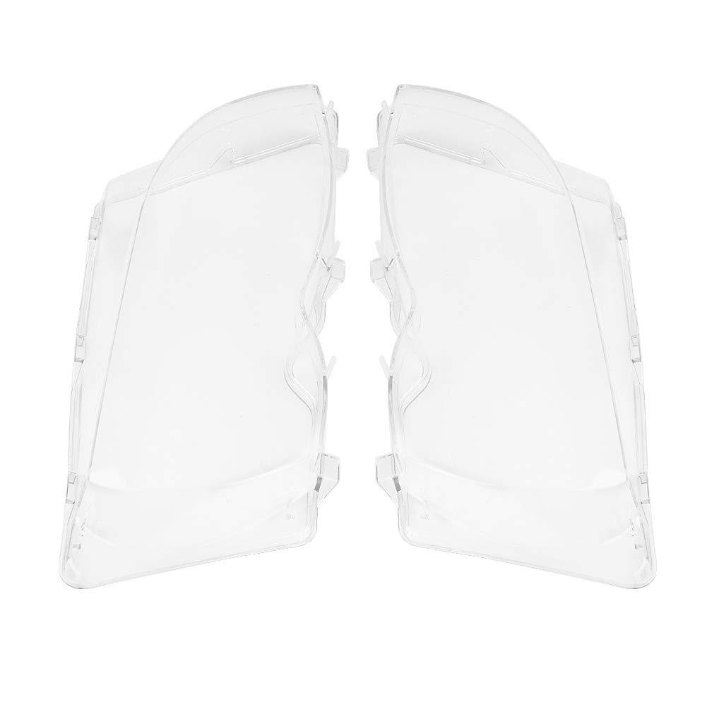 1 Paar Vorne Links Scheinwerfer Abdeckung Rechts Scheinwerfer Klar Kunststoff Objektivdeckel f/ür e46 3er Serie 4dr 02-05