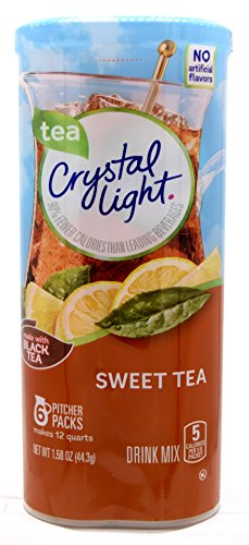 Crystal Light Sweet Tea Drink Mix, 12-Quart 1.56-Ounce Canister (Pack Of 22) by Crystal Light