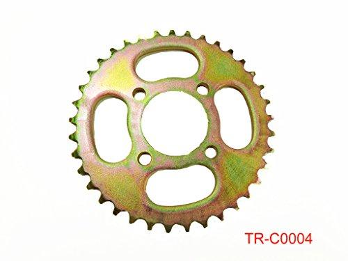 Atv Sprocket - Rear Engine Chain Sprocket 420 37 Teeth for 50cc 90cc 110cc 125cc Chinese ATV Dirt Bike Quad TaoTao Roketa Sunl (Gold)