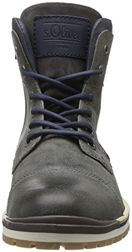 s.Oliver 15218, Botines para Hombre Gris (ANTHRACITE 214)