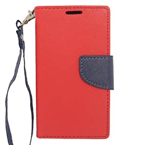 Windowcell for Lg Optimus L70/optimus Exceed 2/realm Ls620 Pu Leather Red/tpu Blue with Retail Package
