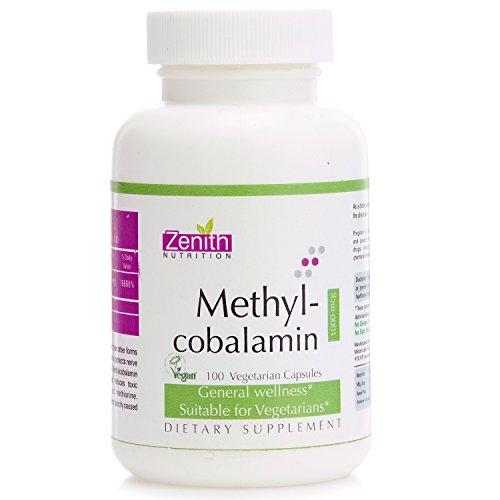 Zenith Nutrition Methylcobalamin Vitamin B12 for Brain and N