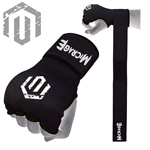 Micrage Boxing Hand Wraps Inner Gloves Padded Protector Quick Wraps Men & Women Kickboxing MMA UFC Training Bandages (Pair)