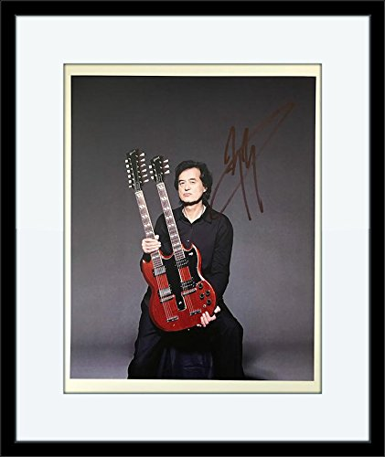Framed Jimmy Page Autograph with Certificate of Authenticity -