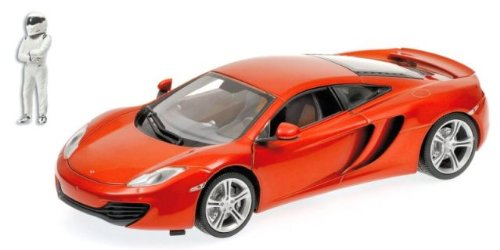 MCLAREN MP4-12C in MCLAREN ORANGE LE 1,000 pieces Top Gear Edtion with The Stig Figurine Diecast Model Car in 1:18 Scale by Minichamps -