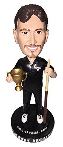 Championship Billiard Bobble Legend Johnny Archer Collector Series #1 Pool Bobblehead Statue Holding Cue (Scorpion Cue Ball)