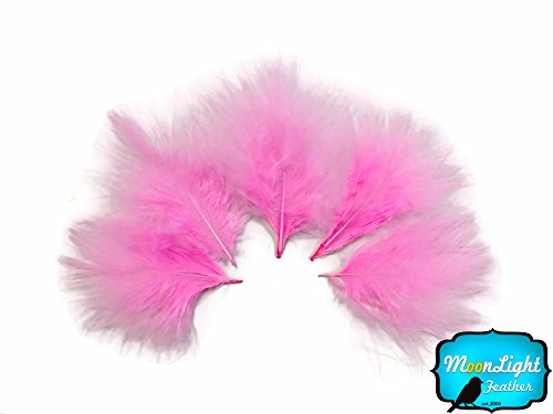 (1 Pack - Pink Turkey Marabou Short Down Fluff Loose Feathers 0.10 oz.)
