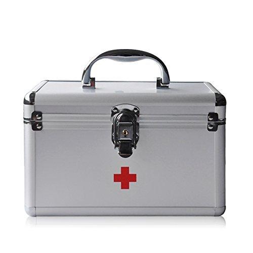ultimateod-b016-5-first-aid-emergency-medication-prescription-drugs-storage-box-simple-silver
