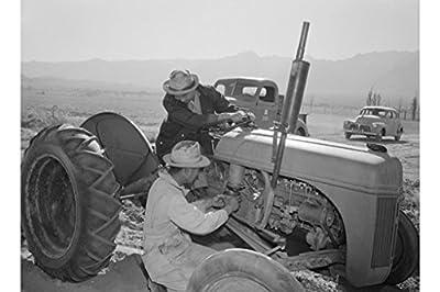 Tractor Repair at Manzanar No. 1, by Ansel Adams