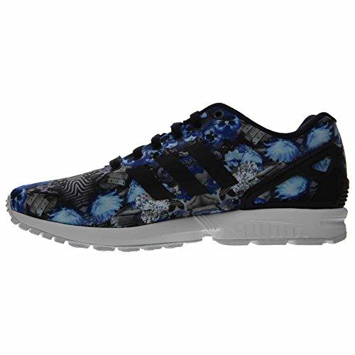 Adidas Zx Flux Print Afslappet Herresko Size Sort / Blå-hvid uUTfAQ