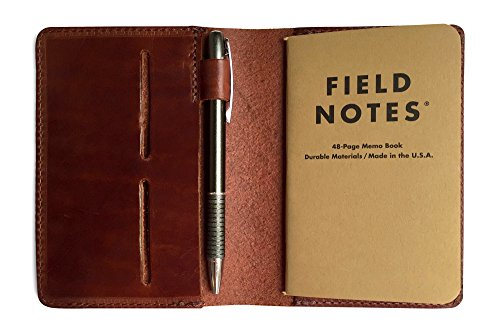 Journal Cover (Full Grain Leather Composition Cover Journal for Field Notes Notebooks (Vintage)