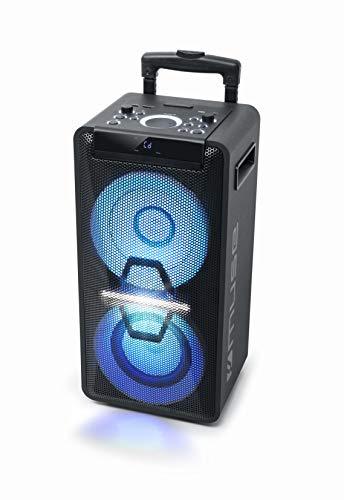 Muse DJ PA-systeem met accu, 300 watt, met CD, Bluetooth en lichteffecten (USB, AUX, microfoon, afstandsbediening…