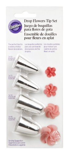 Wilton 418-4569 4-Piece Drop Flowers Tip Set