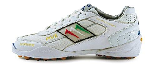 AGLA - Zapatillas de fútbol sala para hombre White/white