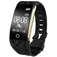 Fitness Tracker Watch,YAMAY Activity Tracker Heart Rate Monitor Waterproof IP67 Smartwatch with Step Counter Sleep Monitor Pedometer Watch For Women Kids Men Call SMS SNS Vibrate for Android iOS Phone