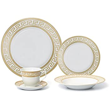 Royalty Porcelain 20-Piece Old-Fashioned White Gold-plated Dinnerware Set w/  sc 1 st  Amazon.com & Amazon.com | Royalty Porcelain 20-Piece Old-Fashioned White Gold ...