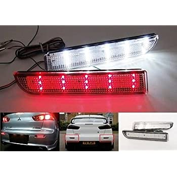 Clear Lens LED Bumper Reflector Backup Tail Stop Light For 09-14 Nissan Infiniti
