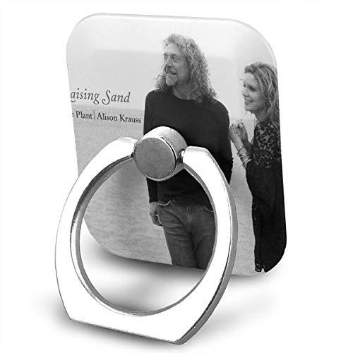 (EdithL Robert Plant Alison Krauss Raising Sand Phone Ring Stand Holder Finger Grip Stand, Car Mount 360 Degree Rotation Universal Phone Ring Holder Kickstand for iPhone/iPad/Samsung)