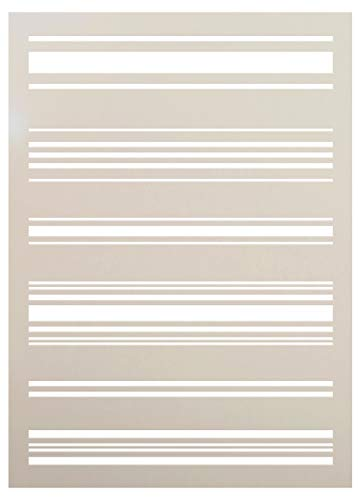 Tea Towel Stripe Stencil by StudioR12 | Reusable Mylar Template | Paint Wood Sign - Fabric | Craft Rustic Pattern French Country Home Decor | DIY Farmhouse Scrapbook- Journal - - Mask Stripes Paint