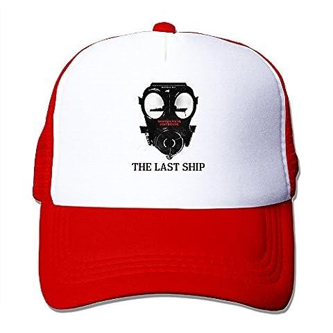 CEDAEI The Last Ship Outdoor Mesh Hat Mountain Climbing Sanpback Cap Hat Adjustable Red