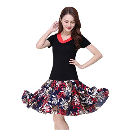 ChicWind Women's Latin Salsa Tango Rumba Dance Dress Casual Square Dance Skirts Costumes -