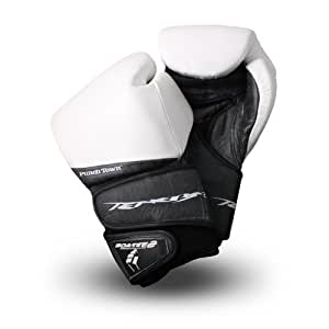 PunchTown Tenebrae Boxing Gloves, White, 12-Ounce