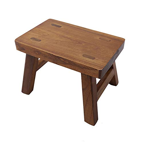 Footstool Bamboo - Golden Sun Solid Wood Small Stool for Kids Foot Stool Waterproof 6 inch