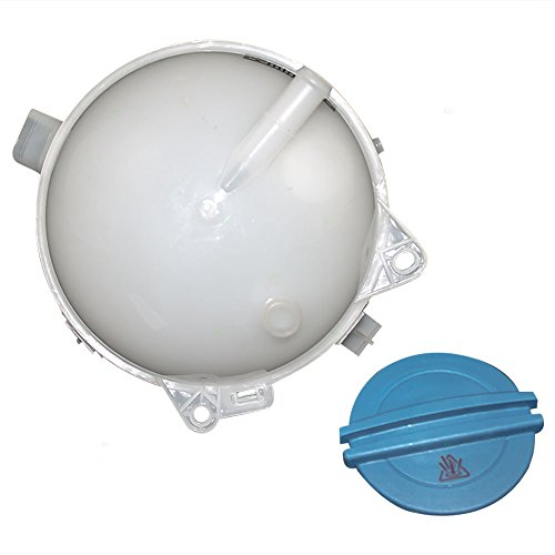 1K0 121 407A HQRP Coolant Expansion Tank Replacement compatible with Audi//Volkswagen VW 1K0121407A 1K0 121 407 A plus HQRP Coaster