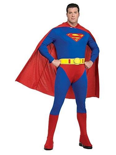 Rubie's Plus-Size Superman Complete Adult Costume, Blue/Red, One Size -