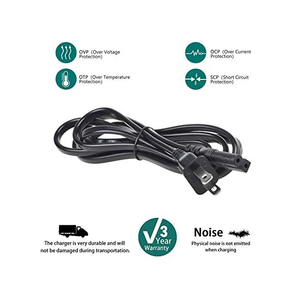 SLLEA 5ft AC Power Cord Outlet Socket Cable Plug Lead for Sony BRAVIA KDL-40R380B KDL-40R350B 40-inch 40 KDL-32R330B KDL… 2