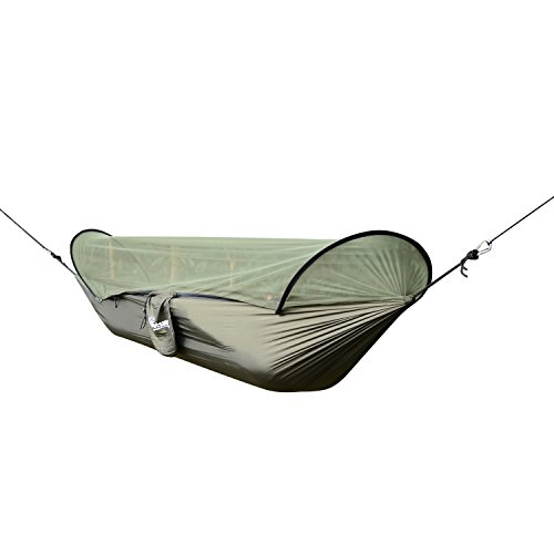 Hunter Green Swivel Bar Stool - Portable Travel Camping Hammock Outdoor Swing Bed Hiking Beach with ebook