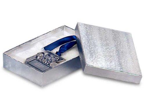 5-1/2x3-1/2x1-7/8 Silver Foil Jewelry Box w/ Non-tarnish Cotton (Unit Pack - 100)