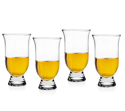 Whiskey Glass, Set of 4-5 oz Whiskey Glasses Perfect Scotch Glass for Liquor or - Beer Oz 4 Glasses