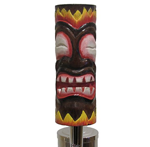 Hand Carved Wooden Tiki Beer Tap Handle Sports Bar Kegerator Breweriana Totem by Kool Collectibles (Image #3)
