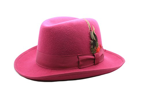 Ferrecci M Fuchsia Godfather Hat]()