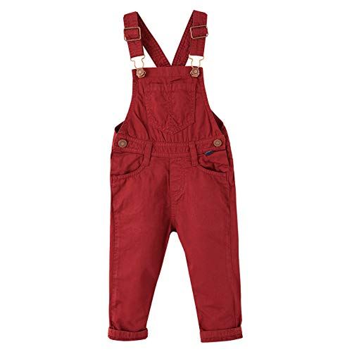 OFFCORSS Red Toddler 2T Bib Overalls Boys Kids Baby Clothes Overoles para Niños